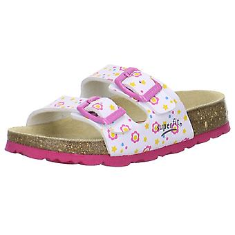 Superfit Girls Tecno 111-51 Sandals White Pink