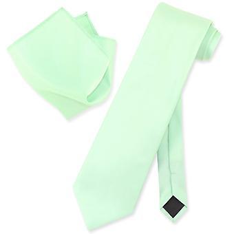 Vesuvio Napoli solide cravate & mouchoir Mens cou cravate ensemble