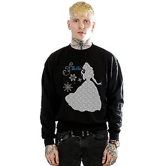 Disney Princess Men's Belle Christmas Silhouette Sweatshirt