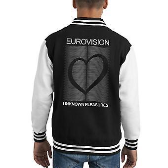 Eurovision Joy Division parodi logotyp Kid's Varsity jacka