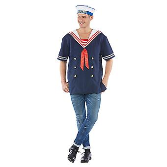 Sailor men's costume blue boys fur Mariner Carnival