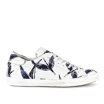 Philippe model women's CLLUBV04 White leather of sneakers