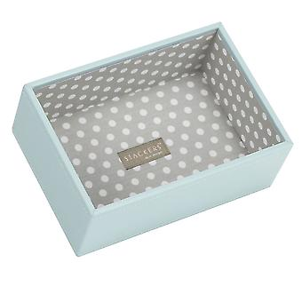 Duck Egg & Grey Polka Mini Deep Open Jewellery Tray