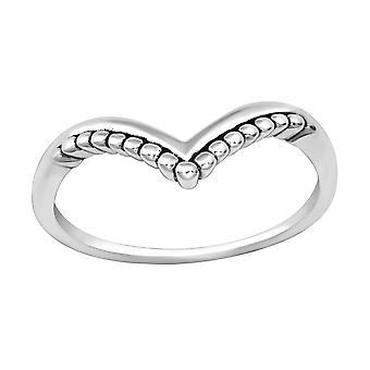 Heart - 925 Sterling Silver Plain Rings - W35680X