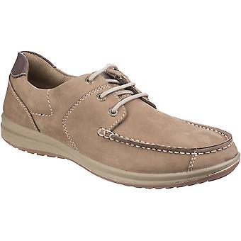 Hush Puppies Mens Runner Moccasin Lace Up Breathable Summer Boat Shoes