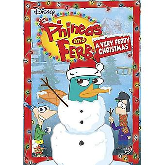 Phineas Ferb &: Très Perry Noël [DVD] USA import