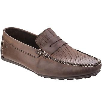 Base London Attwood Mens Waxy Leather Loafers