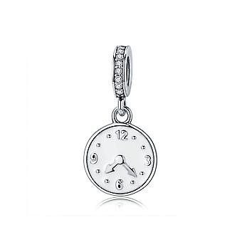 Sterling silver pendant charm Clock The happiness time SCC657