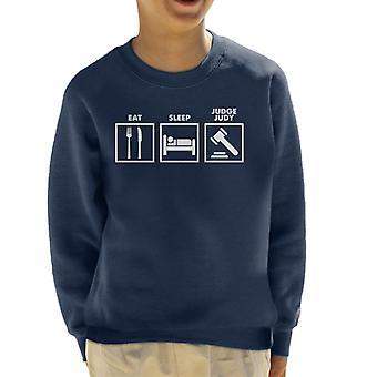 Eat Sleep Judge Judy Road Signs Kid's Sweatshirt