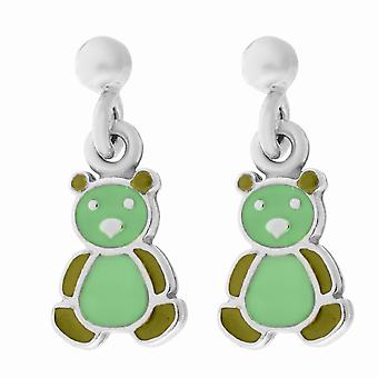 Orphelia Silver 925 Kids Earring Green Bear  ZO-7140/GR