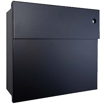 RADIUS letterbox Letterman 4 black with LED Ring blue 560 F-KB