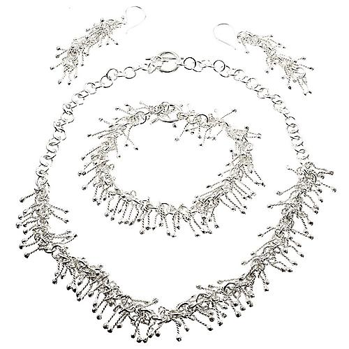 Fringe Fantastic Silver Necklace Set
