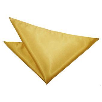 Gold-Plain Satin Taschentuch / Tasche Square