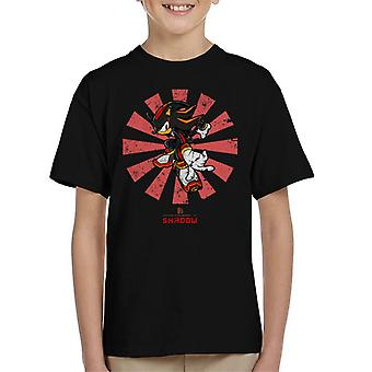 Shadow The Hedeghog Retro Japanese Sonic Kid's T-Shirt