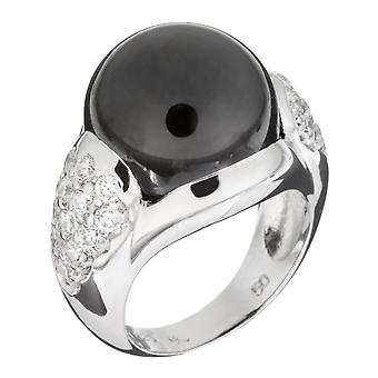 Orphelia Silver 925 Ring Black  Zirconium  Ball  ZR-3619