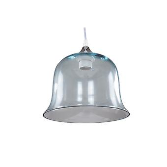 HANGING GLASS BELL BELLS HANGING LAMP KITCHEN DINING ROOM LAMP LIGHT SILVER