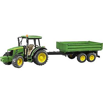 Brother John Deere 5115 M with board wall trailer
