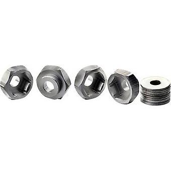 1:10 Aluminium rim hub Absima 12 mm --> 17 mm Aluminium 4 pc(s)