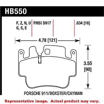 Hawk 'Performance Street' Brake Pads HB550N.634 Fits:PORSCHE 1998 - 1998 911 CA