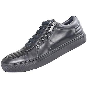 Hugo Boss Footwear Futurism_tenn All Black Leather Trainer