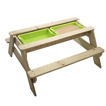 TP Toys Deluxe Wooden Picnic Table Converts To Sandpit