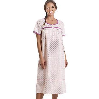 Камиль классический розовый геометрические печати коротким рукавом ночная рубашка