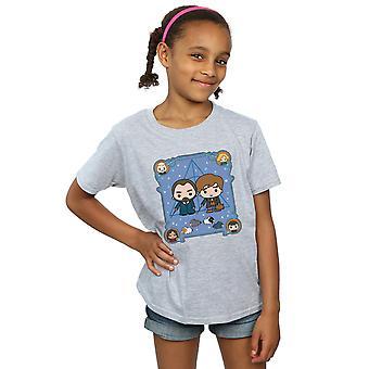 Fantastic Beasts Girls Chibi Newt And Dumbledore T-Shirt