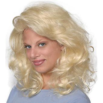 Fashion women medium wavy Tawny wig