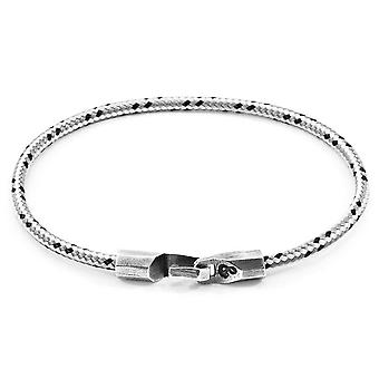 Anchor and Crew Talbot Silver and Rope Bracelet - Grey Dash