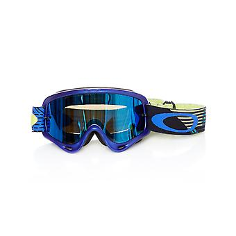 Oakley Ciruit Blue-Yellow-Black Ice Iridium-Clear 2019 O Frame MX Goggle