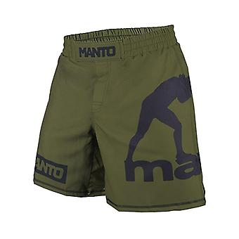 Manto Logo Fight Shorts Olive Green