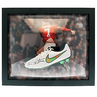 Manchester United Cantona Signed Boot (Framed)