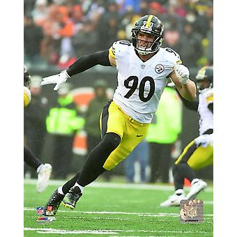 TJ Watt 2018 Action Photo Print