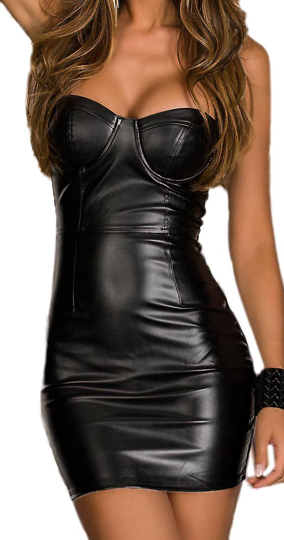 Waooh 69 - Leatherette Strapless Dress In Corraly