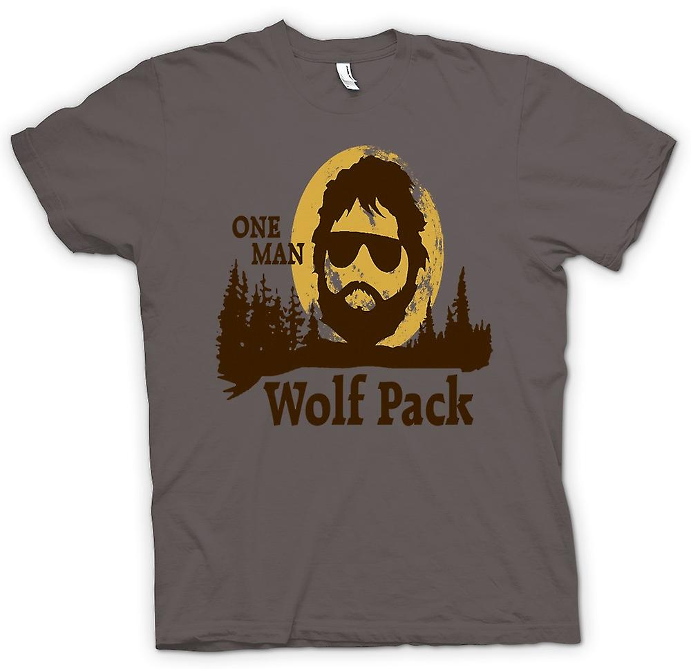 T-shirt van Vrouwen - The Hangover One Man Wolf Pack - Grappige