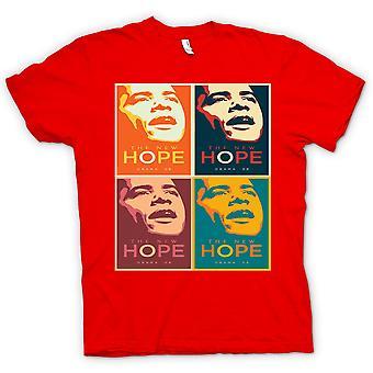 تي شيرت رجالي--أوباما 08 أمل جديد-وارهول