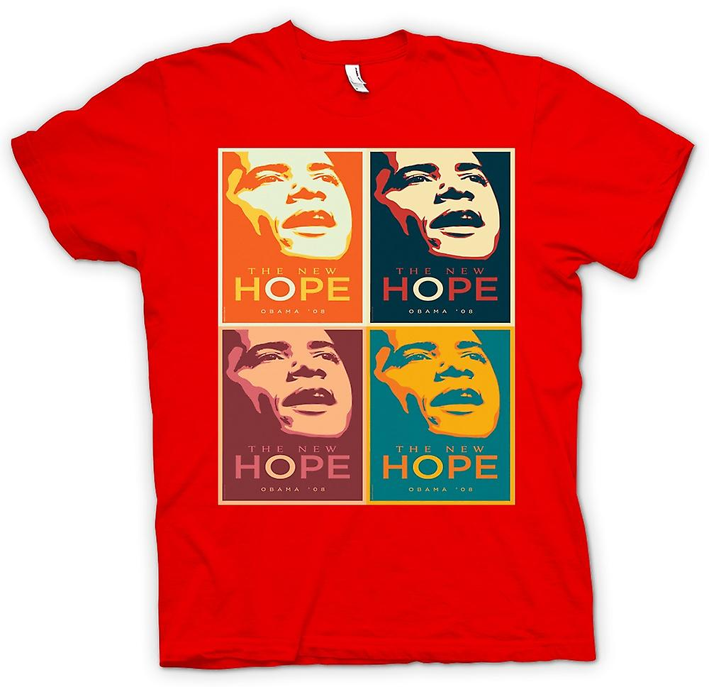 Mens T-shirt - Obama 08 The New Hope - Warhol