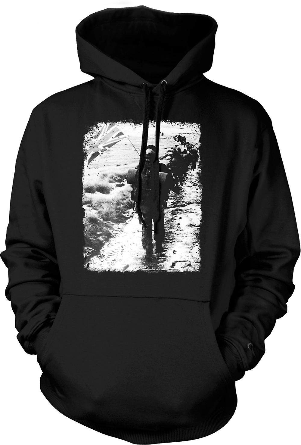 Mens Hoodie - Royal Marines Falklands Yomp