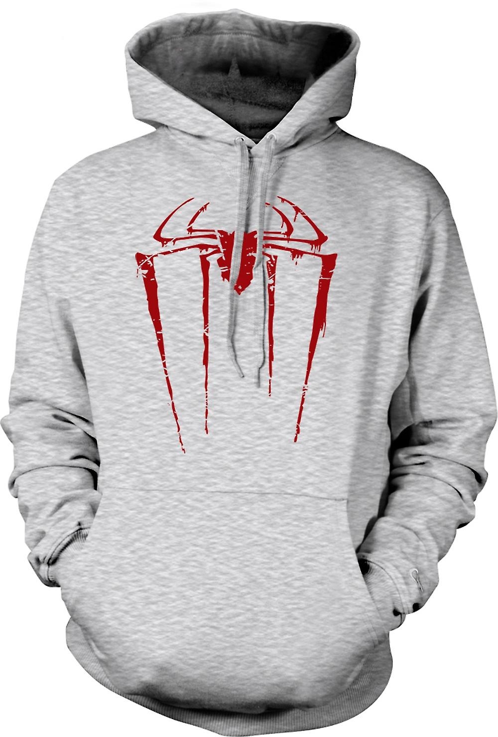 Mens hettegenser - Spiderman Grunge Logo