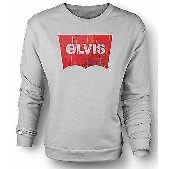 Mens Sweatshirt Elvis - Levis Inspired