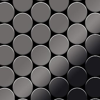 Mozaïek van massief metaal Titaan ALLOY Medallion-Ti-SM