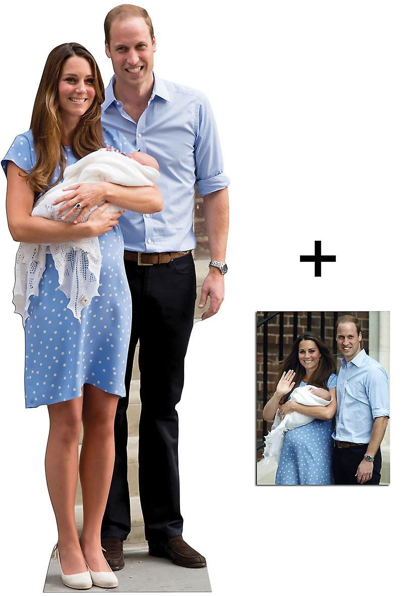Bébé royal Prince George, William et Kate Middleton Lifesize Découpage cartonné / Standup - Paquet commémorative