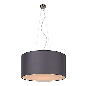 Lucide Coral Cottage Round Cotton Grey Pendant Light