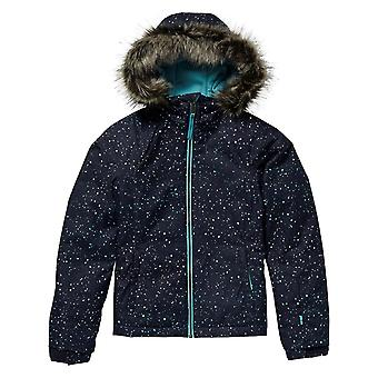 ONeill Blue Aop-White Curve Girls Snowboarding Jacket