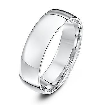 Star anneaux de mariage Palladium 950 lumière Cour 6mm bague de mariage