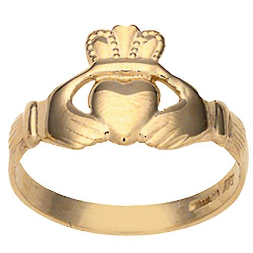 9ct or 6x12mm dames Anneau de Claddagh