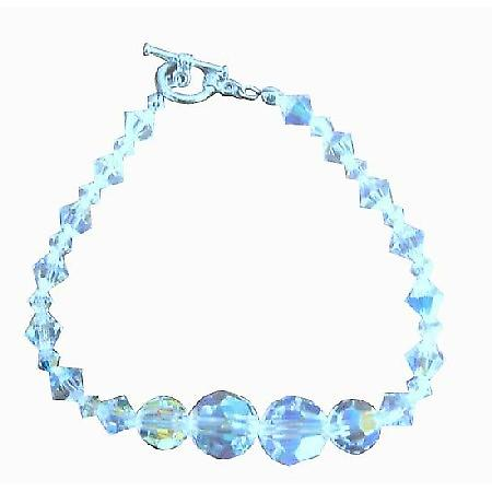 Irridescent Crystals AB Swarovski Cryrstal Bridal Handcrafted AB Crystal Bracelets Custom Bracelet