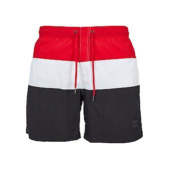 Urban classics men's swim shorts color block