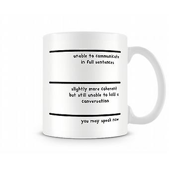 Measuring Mug You May Speak Now Mug