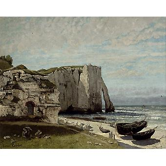 The Cliff at Etretat after the Storm,Gustave Courbet,50x40cm